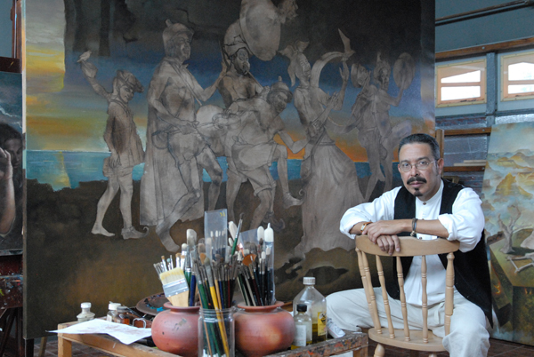 Villarreal at his studio